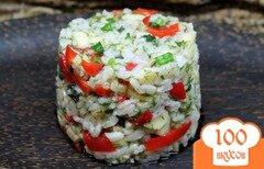 Фото рецепта: «Рисовый салат с болгарским перцем и яблоком»