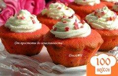 Фото рецепта: «Розовые капкейки»