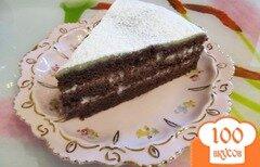 Фото рецепта: «Шоколадный бисквитный торт»