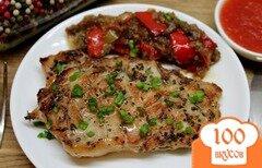 Фото рецепта: «Свиная корейка с горчицей, базиликом и перцем»