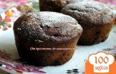 Фото рецепта: «Шоколадно-творожные кексы»