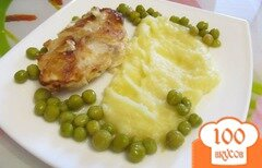 Фото рецепта: «Треска в кляре с картофельным пюре»