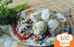 Фото рецепта: «Тефтели в сливочно-грибном соусе»
