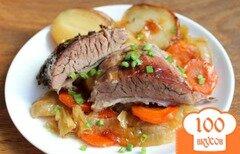 Фото рецепта: «Подчеревок запеченный с овощами и чесноком»