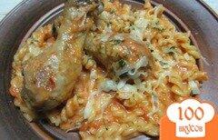 Фото рецепта: «Паста с курицей в томатно-сливочном соусе»