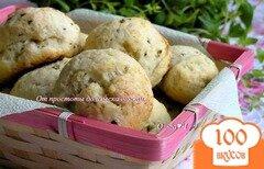 Фото рецепта: «Творожные булочки с мятой»