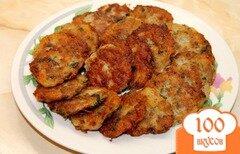 Фото рецепта: «Драники со свининой и зеленью»