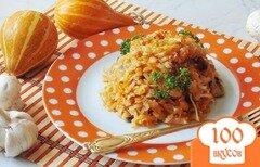 Фото рецепта: «Капуста тушеная с тыквой и грибами»