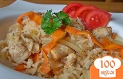 Фото рецепта: «Курица с рисом в мультиварке»