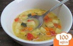 Фото рецепта: «Суп с кукурузной крупой и замороженными овощами»