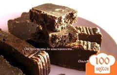 Фото рецепта: «Шоколадный фадж с миндалем»
