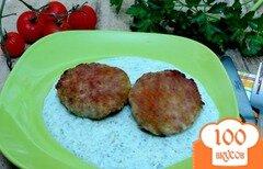 Фото рецепта: «Котлеты со шпинатным соусом»