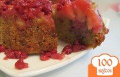 Фото рецепта: «Пирог с яблоками и красной смородиной»