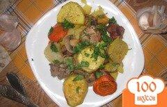 Фото рецепта: «Пряная свинина запеченная с овощами»