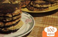 Фото рецепта: «Овсяные оладьи на кефире»