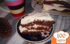 Фото рецепта: «Шоколадный пирог с творожно-сливочным кремом»