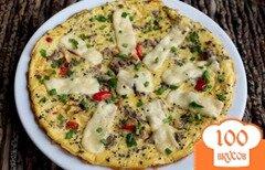 Фото рецепта: «Омлет с мясом, болгарским перцем и сыром»
