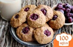 Фото рецепта: «Овсяное печенье с вишней»