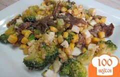 Фото рецепта: «Салат из брокколи и грибов»