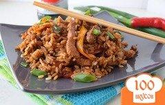 Фото рецепта: «Мясо по-восточному с рисом»