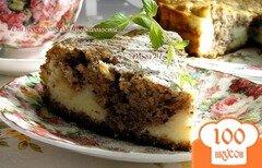 Фото рецепта: «Ореховый пирог с творожным кремом»