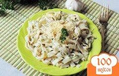 Фото рецепта: «Домашняя лапша с чесноком и зеленью»