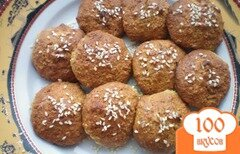 Фото рецепта: «Овсяное печенье с цедрой апельсина, корицей и орехами»