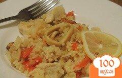 Фото рецепта: «Паэлья с курицей и морепродуктами»