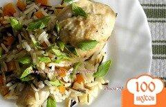 Фото рецепта: «Курица с двумя видами риса и мятой»