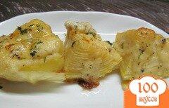 Фото рецепта: «Запеченная капуста под сырным соусом»