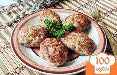 Фото рецепта: «Котлеты из говядины и курицы с яблоками»