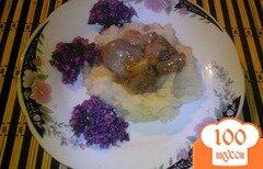 Фото рецепта: «Печень с яблоком по-строгановски»