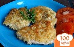Фото рецепта: «Куриные отбивные в панировке из кус-куса»
