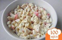 Фото рецепта: «Салат с кальмаром и крабовыми палочками»
