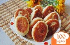Фото рецепта: «Жареные пирожки с мясом, рисом и луком»