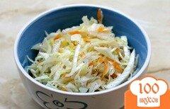 Фото рецепта: «Быстрая маринованная белокочанная капуста»
