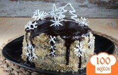 Фото рецепта: «Торт Снежинка»