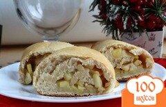 Фото рецепта: «Яблочный штрудель на творожном тесте»