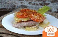 Фото рецепта: «Мясо по-французски со сметанно-горчичным соусом»