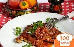 Фото рецепта: «Мясные отбивные в томатном соусе»