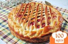 Фото рецепта: «Сдобный пирог с черносмородиновым джемом»