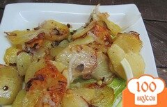 Фото рецепта: «Жаренный картофель по-лионски»