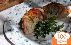 Фото рецепта: «Куриные лодочки с сыром и зеленью»