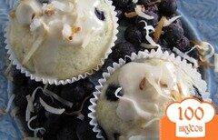 Фото рецепта: «Кокосовые кексы с черникой»