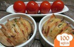 Фото рецепта: «Картофель гармошка с беконом»