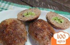 Фото рецепта: «Котлеты начиненные капустой брокколи»