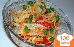 Фото рецепта: «Салат из маринованых овощей и шампиньонов»