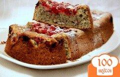 Фото рецепта: «Творожно-маковый кекс с красной смородиной»