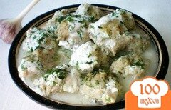 Фото рецепта: «Фрикадельки с йогуртом и чесноком»