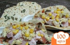 Фото рецепта: «Закуска из фасоли с беконом и грудинкой»